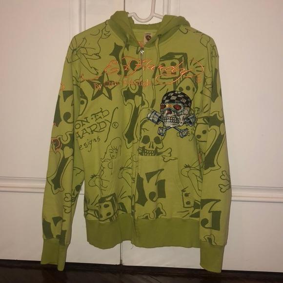 1562a773 Ed Hardy by Christian Audigier Cotton Jacket